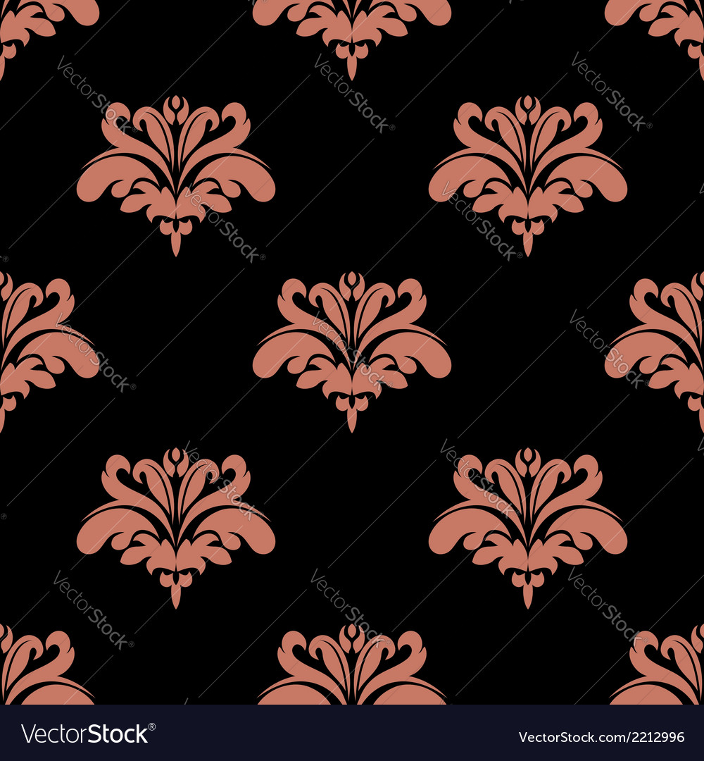 Seamless pattern with pink floral elements vector | Price: 1 Credit (USD $1)