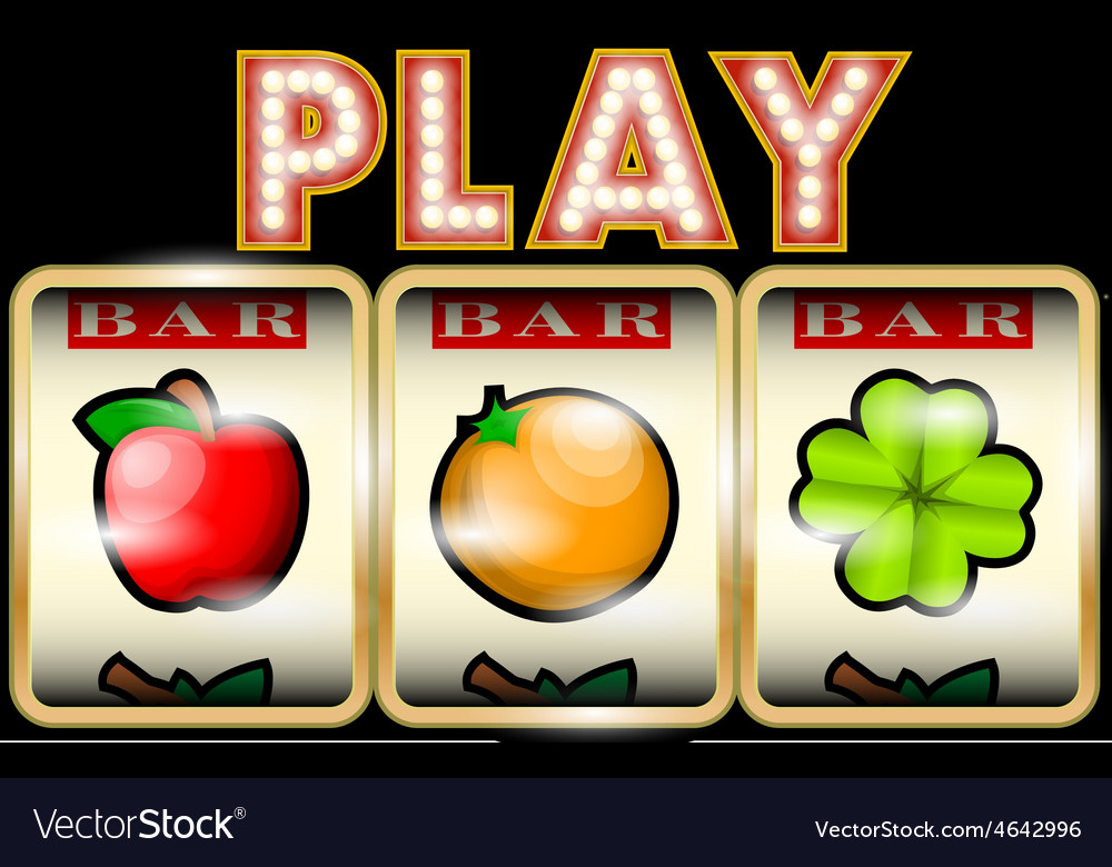 Slot machine with fruits vector | Price: 1 Credit (USD $1)