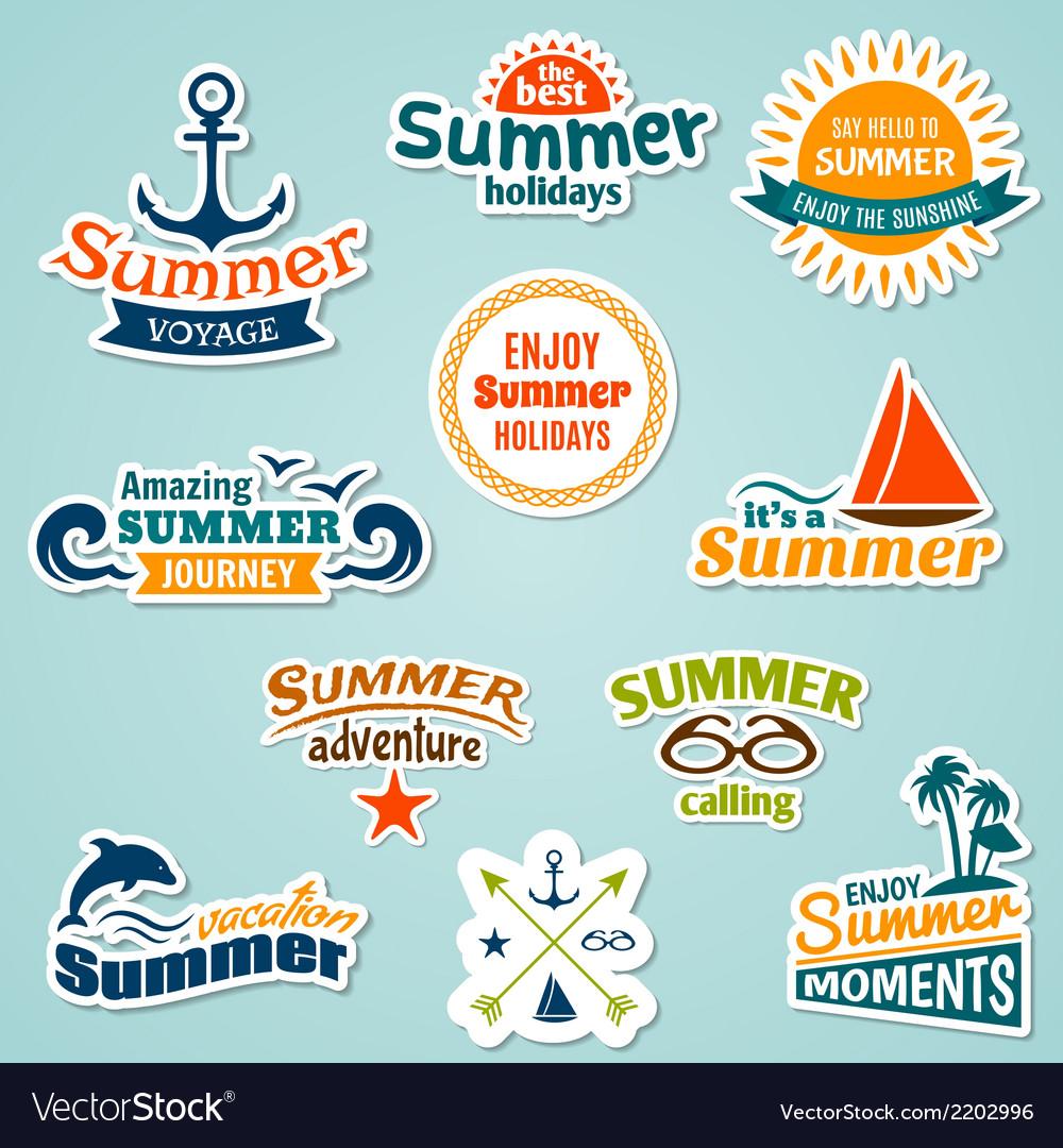 Summer element sticker vector | Price: 1 Credit (USD $1)