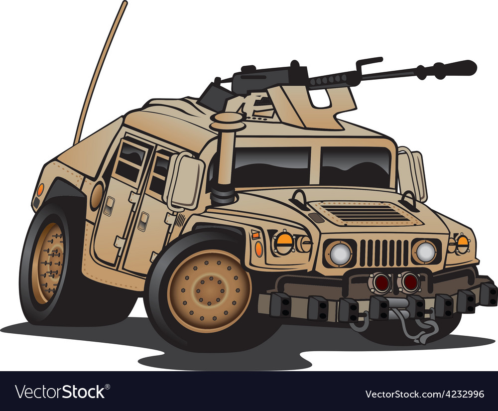 Us military humvee cartoon vector | Price: 3 Credit (USD $3)