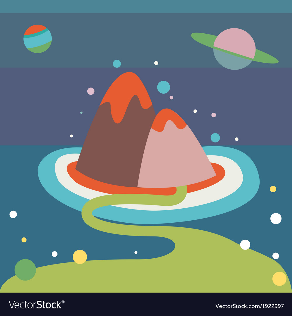 Alien landscape vector | Price: 1 Credit (USD $1)