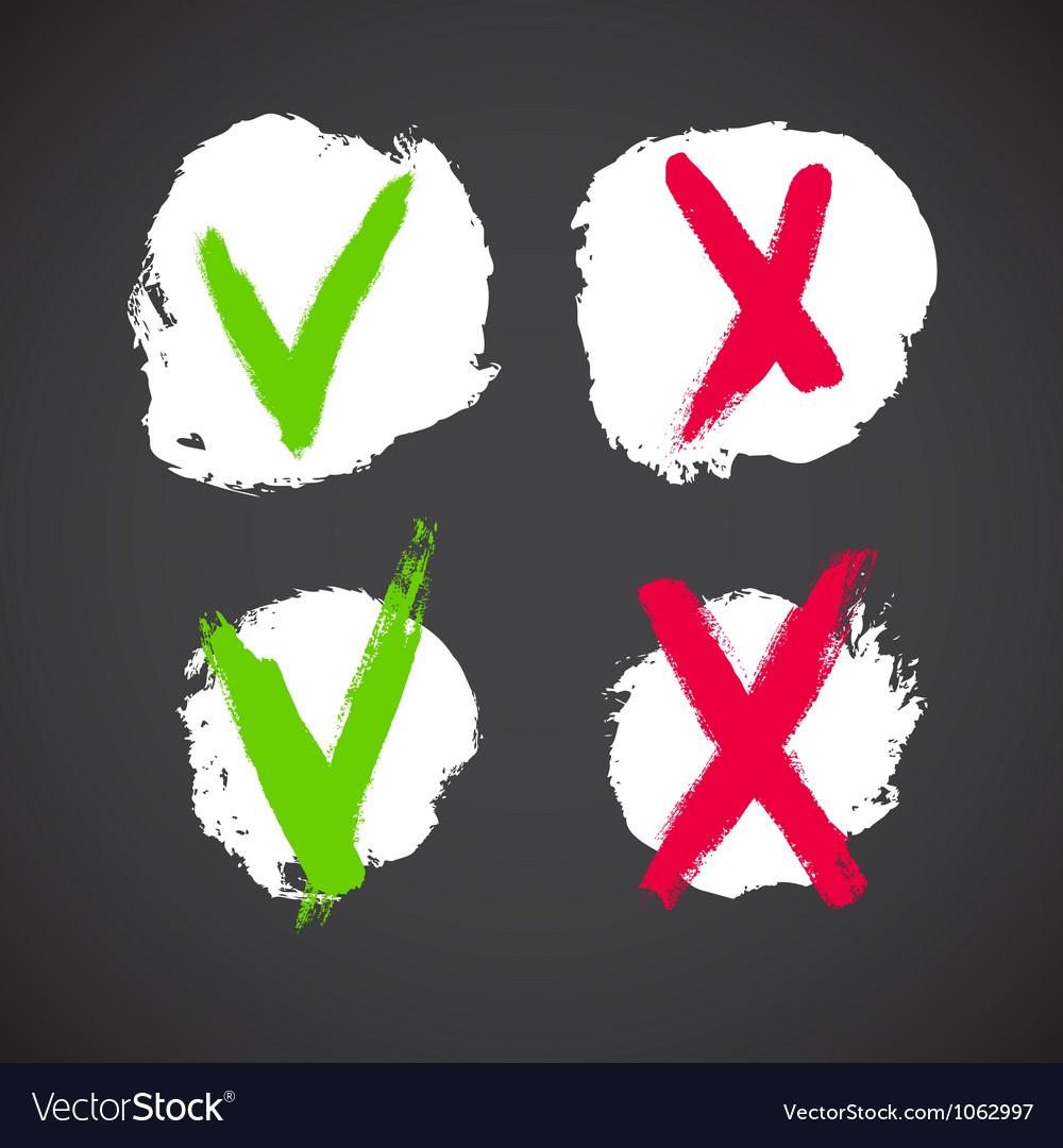 Check mark grunge symbols vector | Price: 1 Credit (USD $1)
