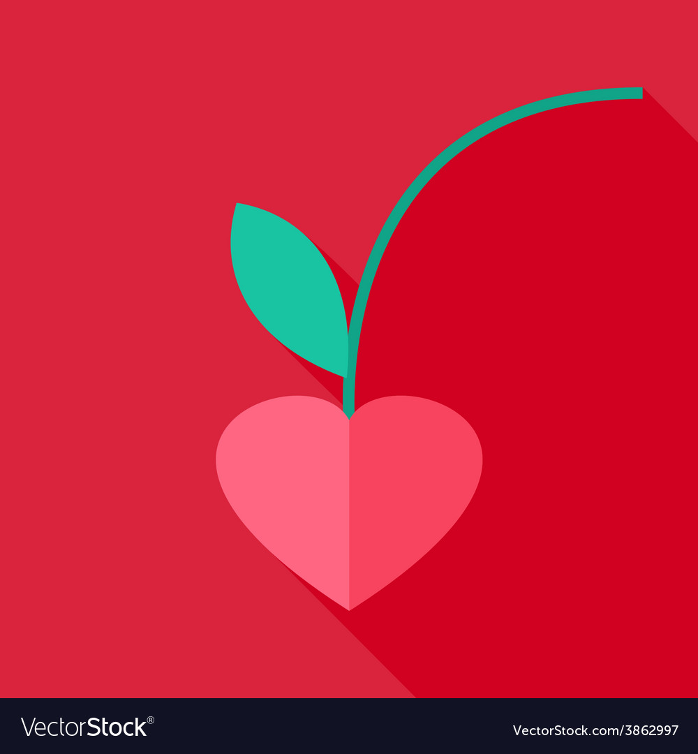 Cherry heart shaped vector | Price: 1 Credit (USD $1)