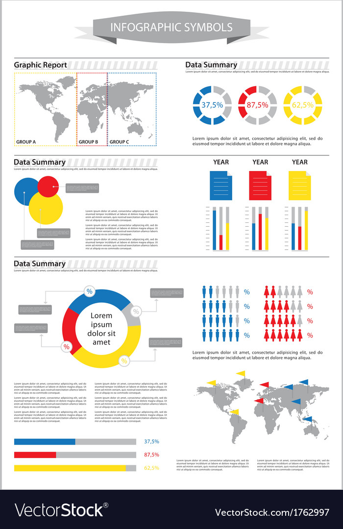 Detail info graphic with statistic data vector | Price: 1 Credit (USD $1)