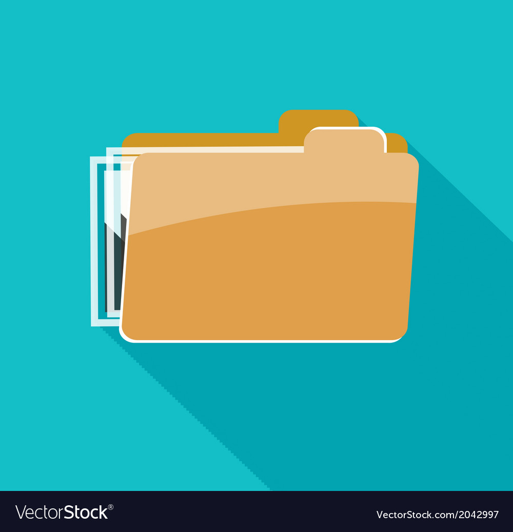 Folder icon isolated on blue background vector   Price: 1 Credit (USD $1)