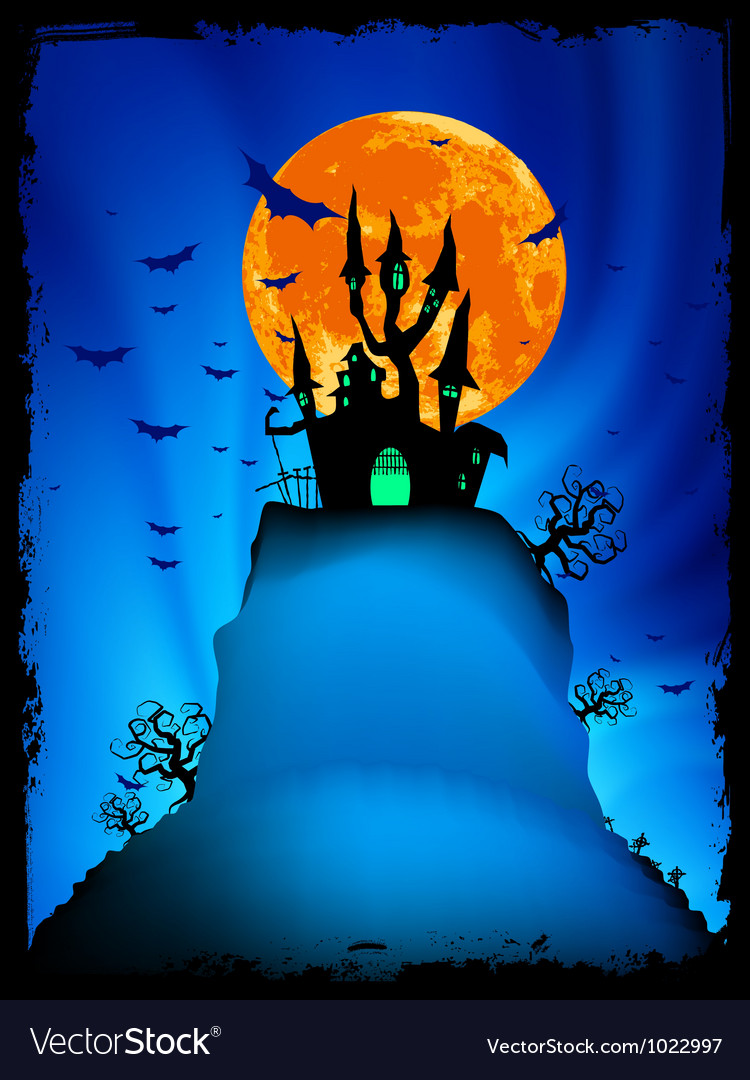 Halloween image with old mansion eps 8 vector | Price: 1 Credit (USD $1)