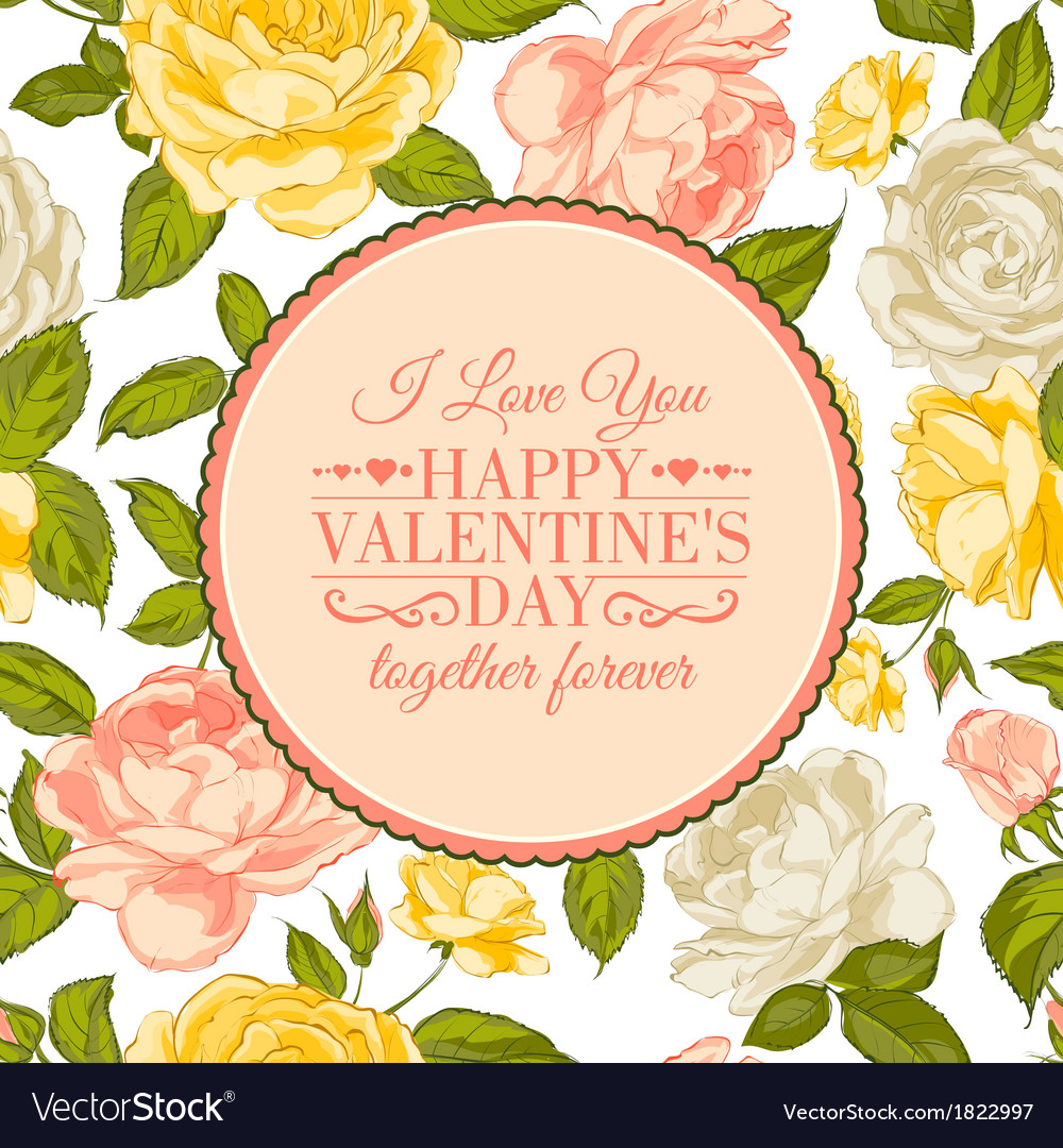 I love you card vector   Price: 1 Credit (USD $1)
