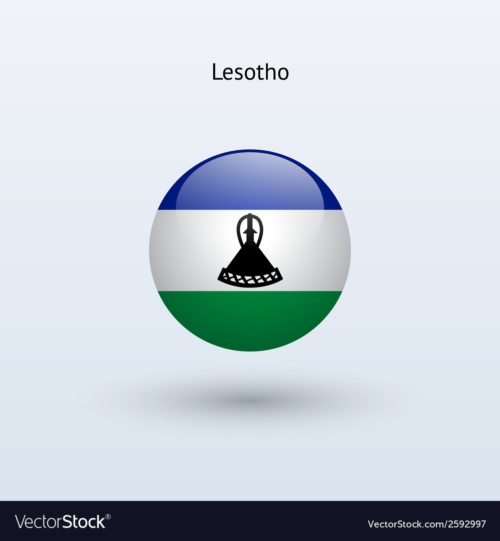 Lesotho round flag vector | Price: 1 Credit (USD $1)