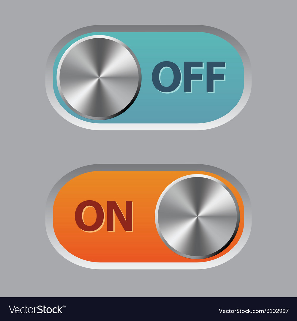 Off and on buttons vector | Price: 1 Credit (USD $1)