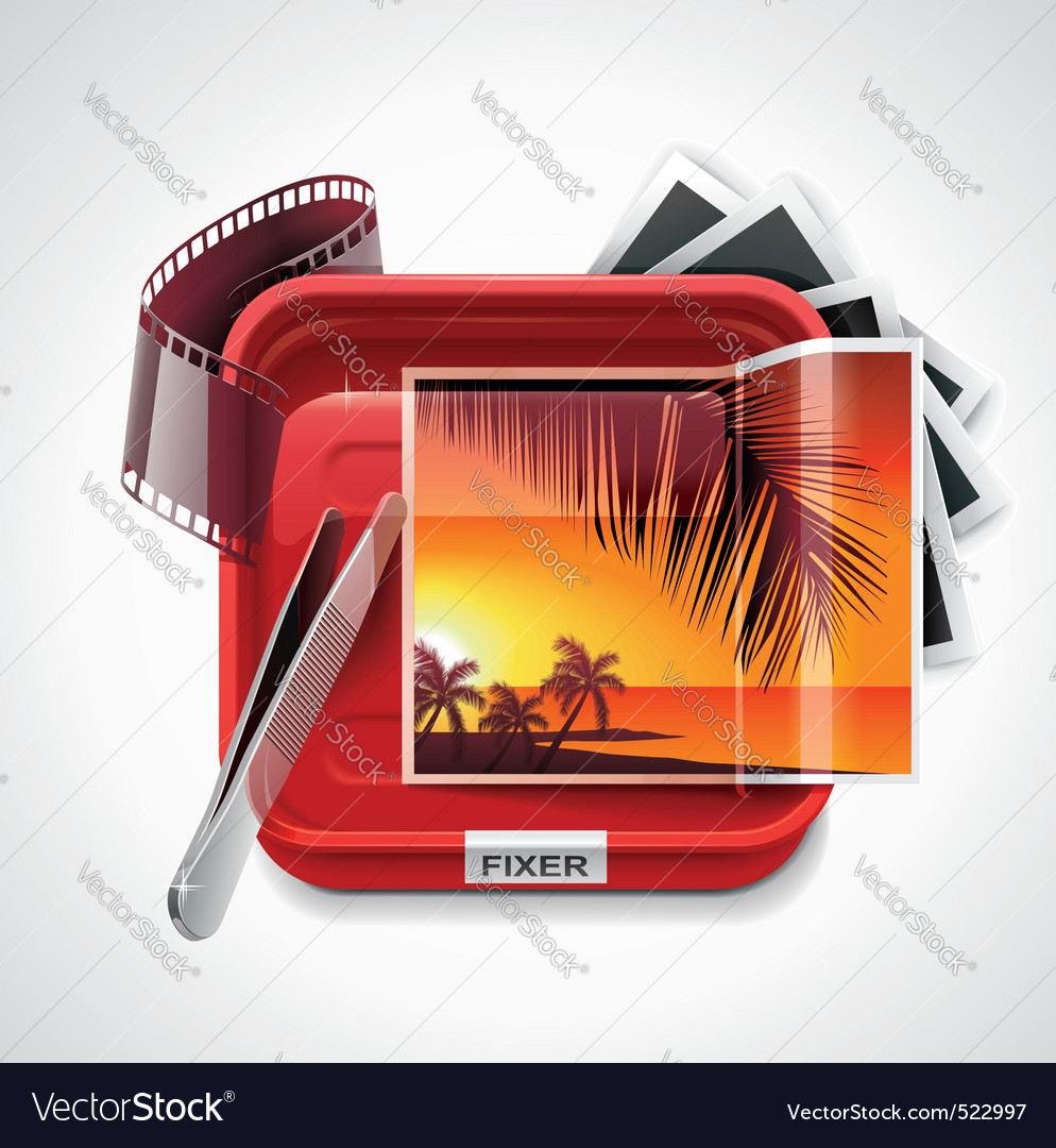 Photographic processing icon vector | Price: 3 Credit (USD $3)