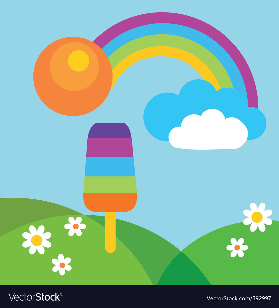 Popsicle in summer vector | Price: 1 Credit (USD $1)