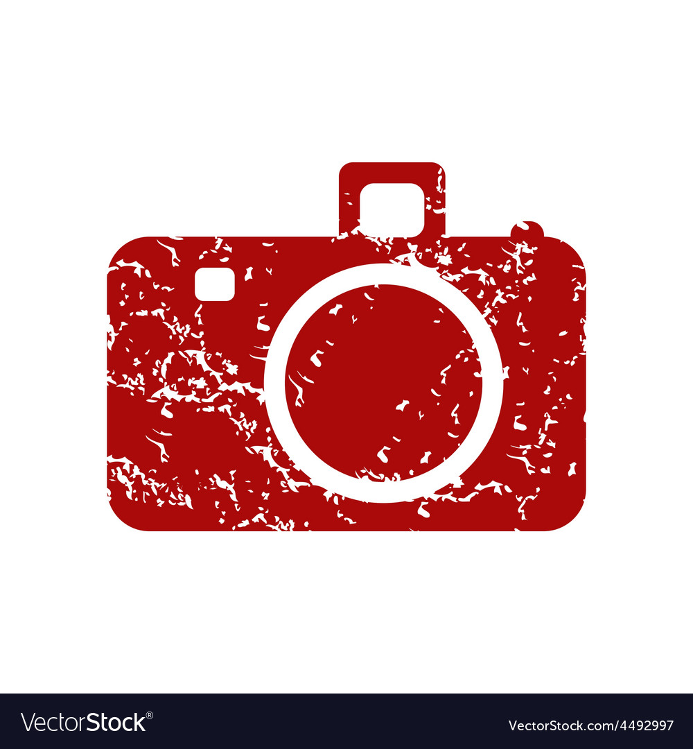 Red grunge camera logo vector | Price: 1 Credit (USD $1)