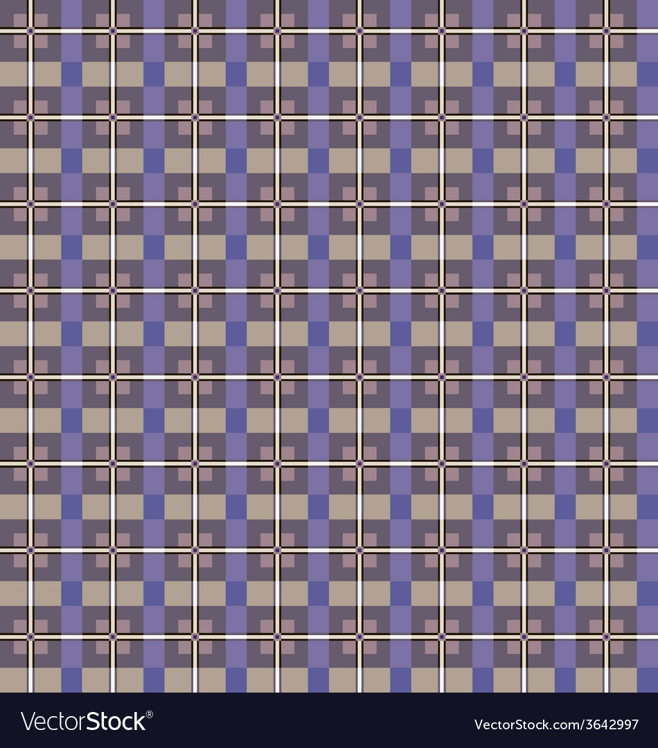 Seamless checkered pattern purple and beige vector | Price: 1 Credit (USD $1)