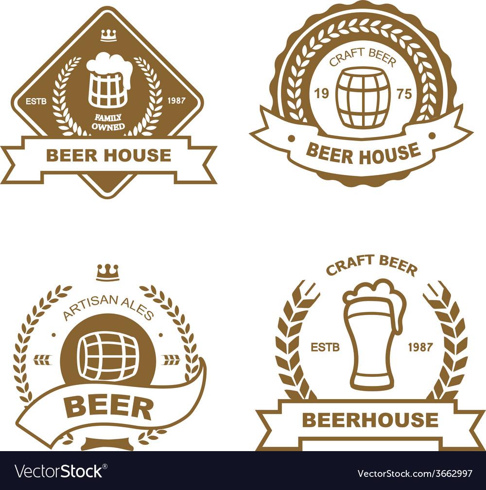 Set of monochrome badge logo and design elements vector | Price: 1 Credit (USD $1)