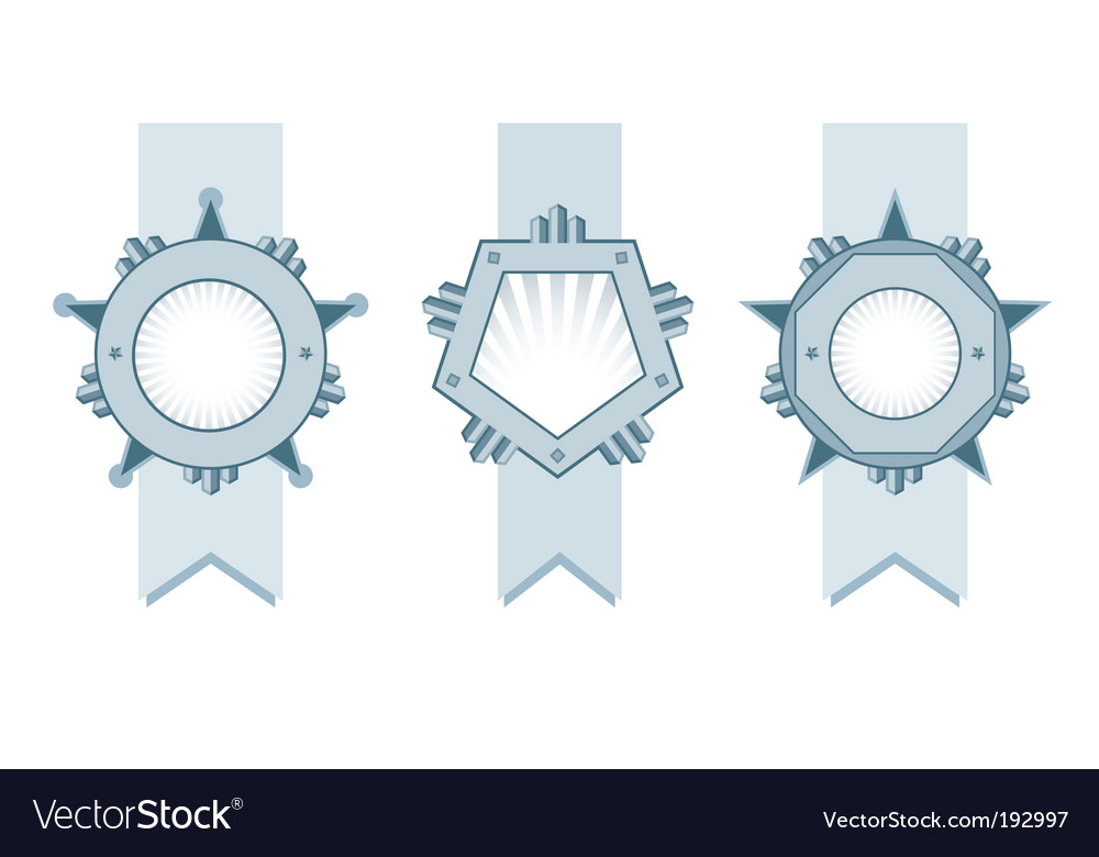 Shield ribbons vector | Price: 1 Credit (USD $1)