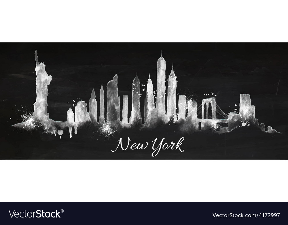 Silhouette chalk new york vector | Price: 3 Credit (USD $3)