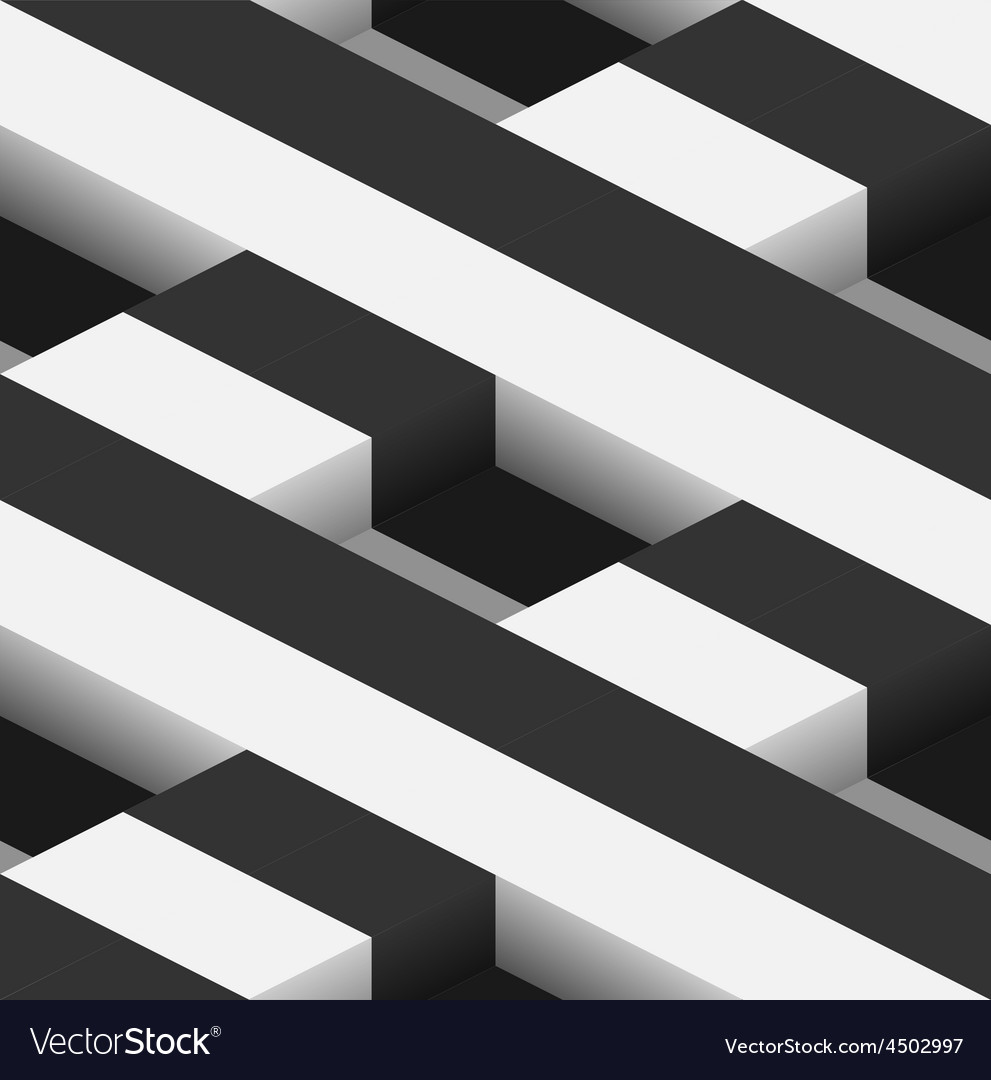 Striped 3d square holes seamless pattern vector | Price: 1 Credit (USD $1)