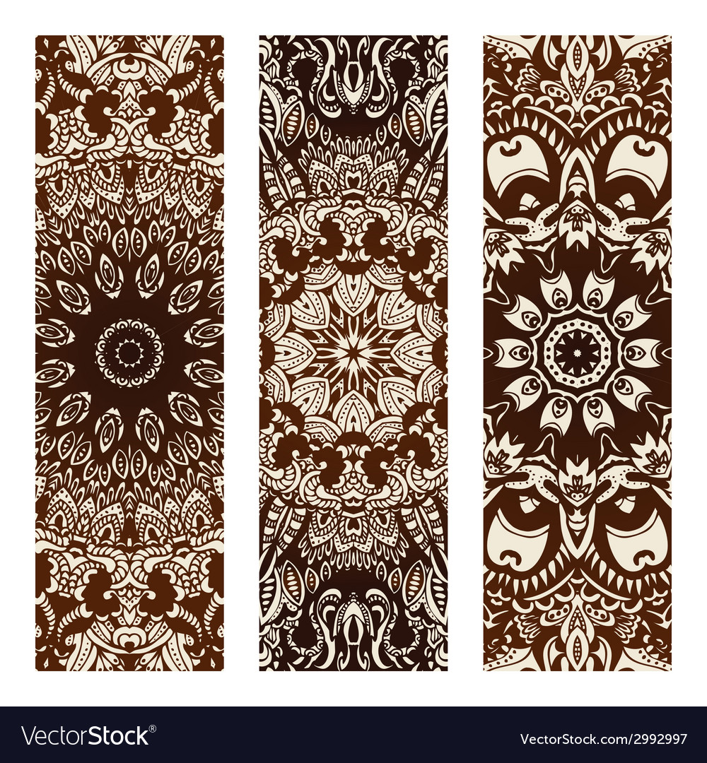 Vintage tribal ethnic banner vector | Price: 1 Credit (USD $1)