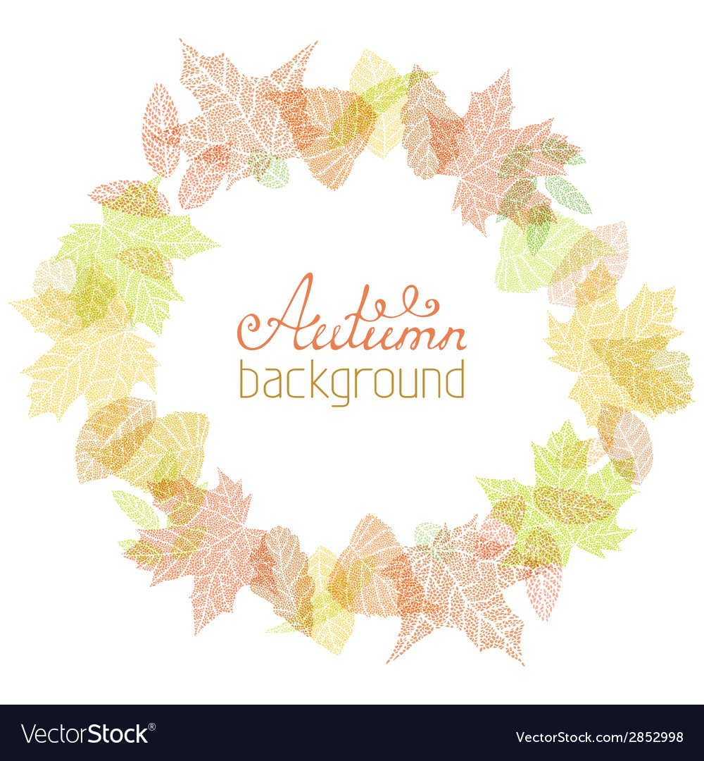 Autumn round frame vector | Price: 1 Credit (USD $1)