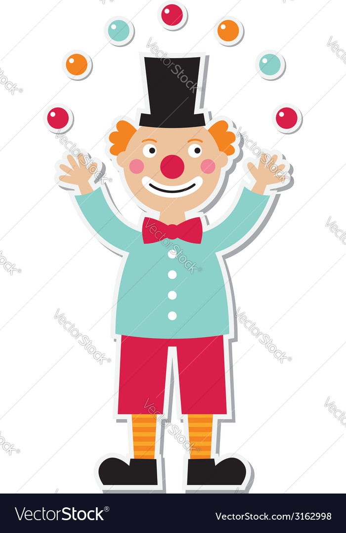 Clown sticker vector | Price: 1 Credit (USD $1)