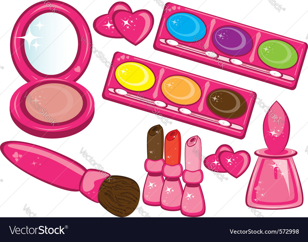 Cosmetics beauty products vector | Price: 1 Credit (USD $1)
