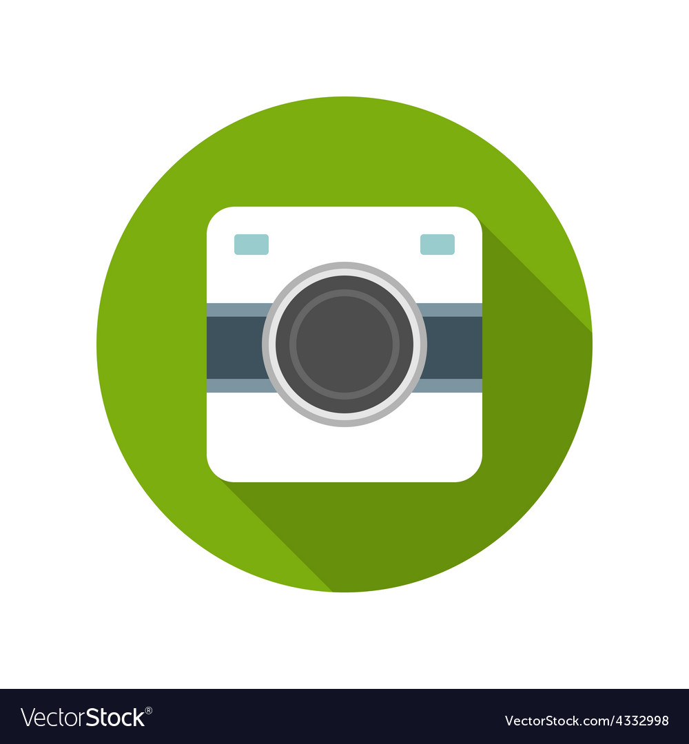 Flat photographer professional retro photo camera vector | Price: 1 Credit (USD $1)