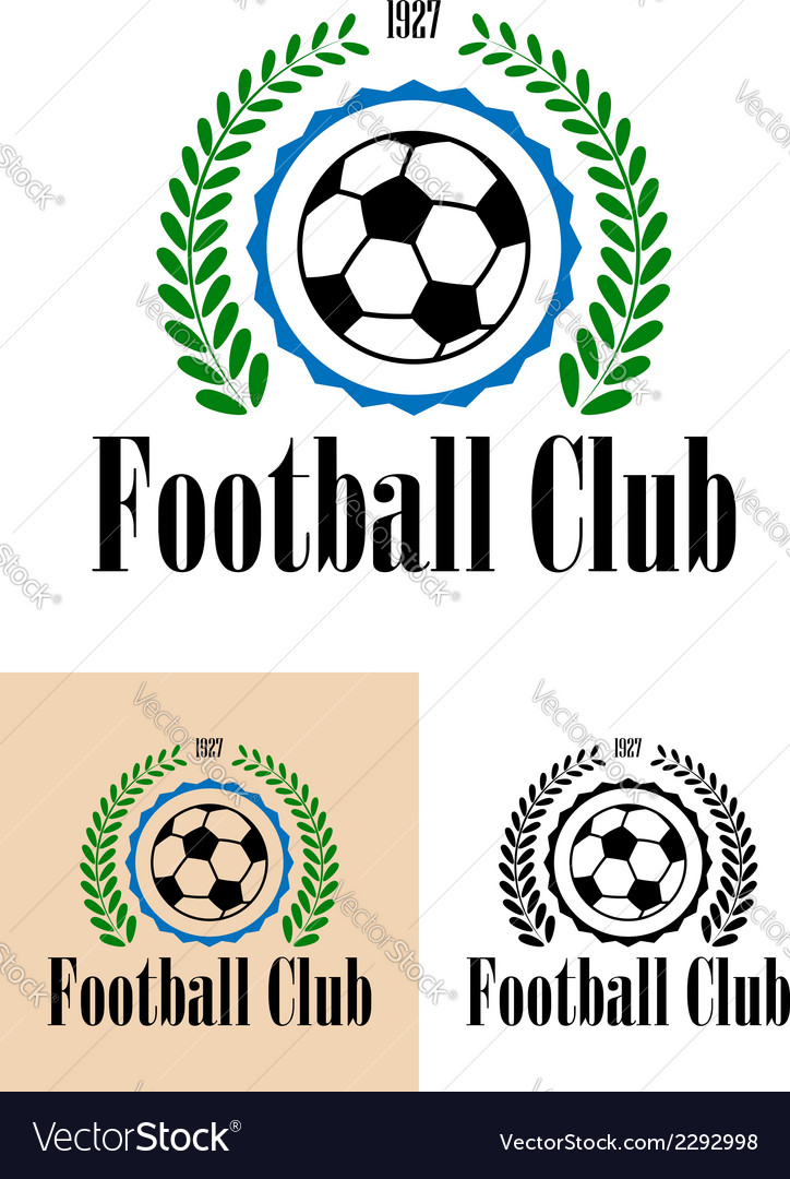 Football club tetro emblem vector | Price: 1 Credit (USD $1)
