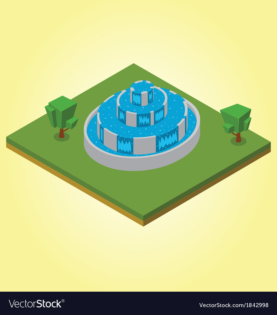 Isometric fountain vector | Price: 1 Credit (USD $1)