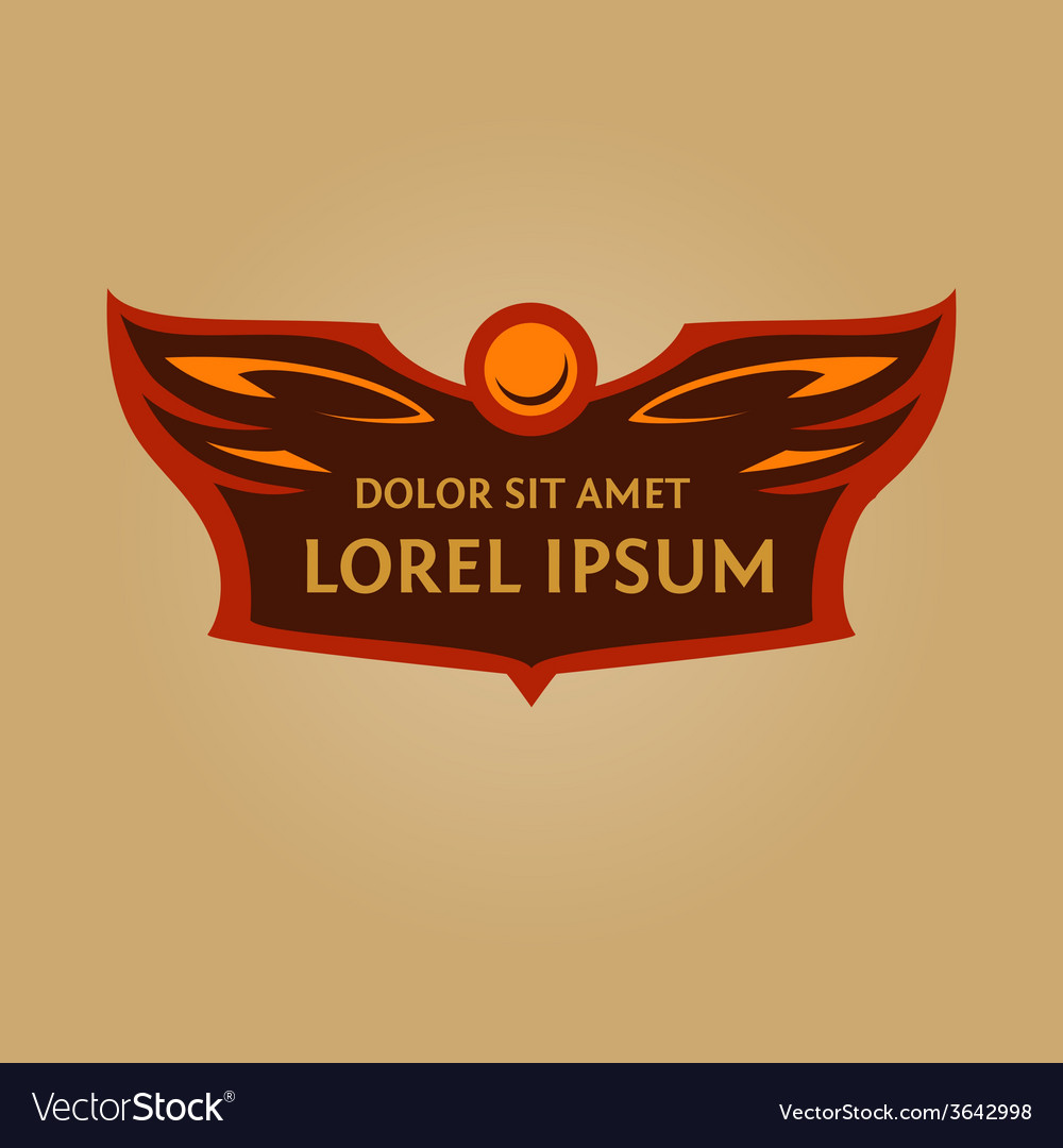 Logo for a sports teamheraldic logo with wings and vector | Price: 1 Credit (USD $1)