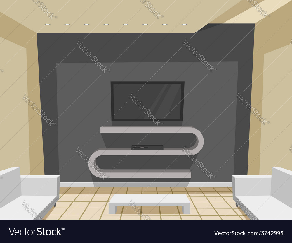 Modern living room vector | Price: 1 Credit (USD $1)