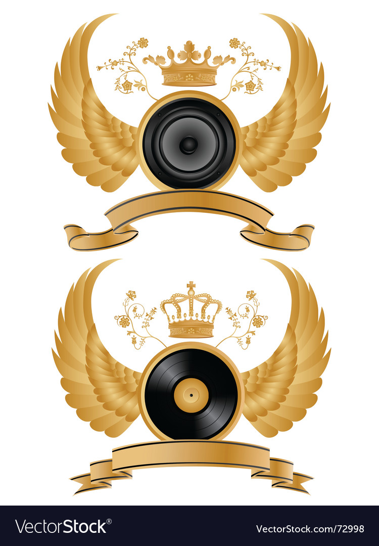 Music heraldry vector | Price: 1 Credit (USD $1)