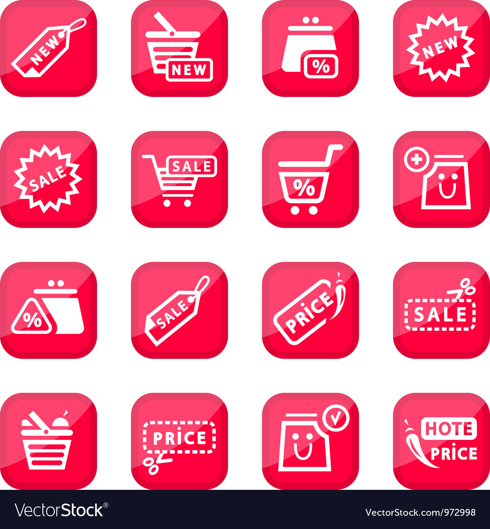 Online shopping icon set vector | Price: 1 Credit (USD $1)
