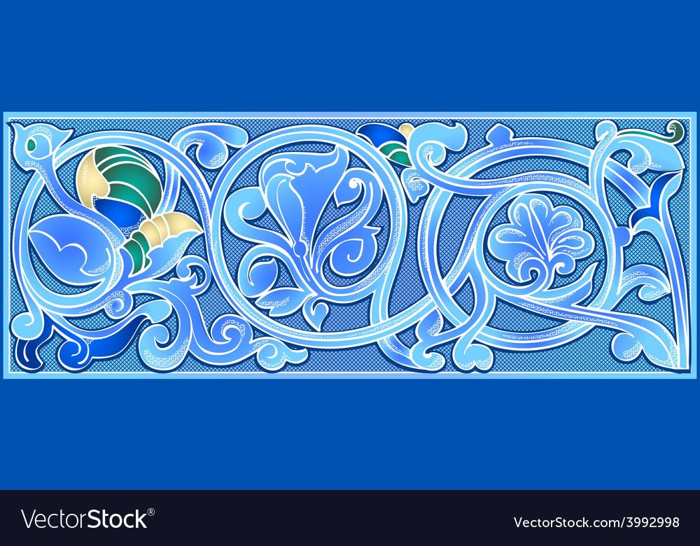 Orno blue vector | Price: 1 Credit (USD $1)