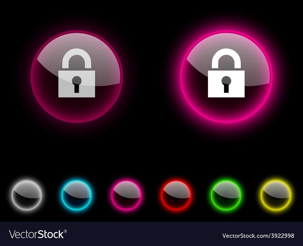 Padlock button vector | Price: 1 Credit (USD $1)