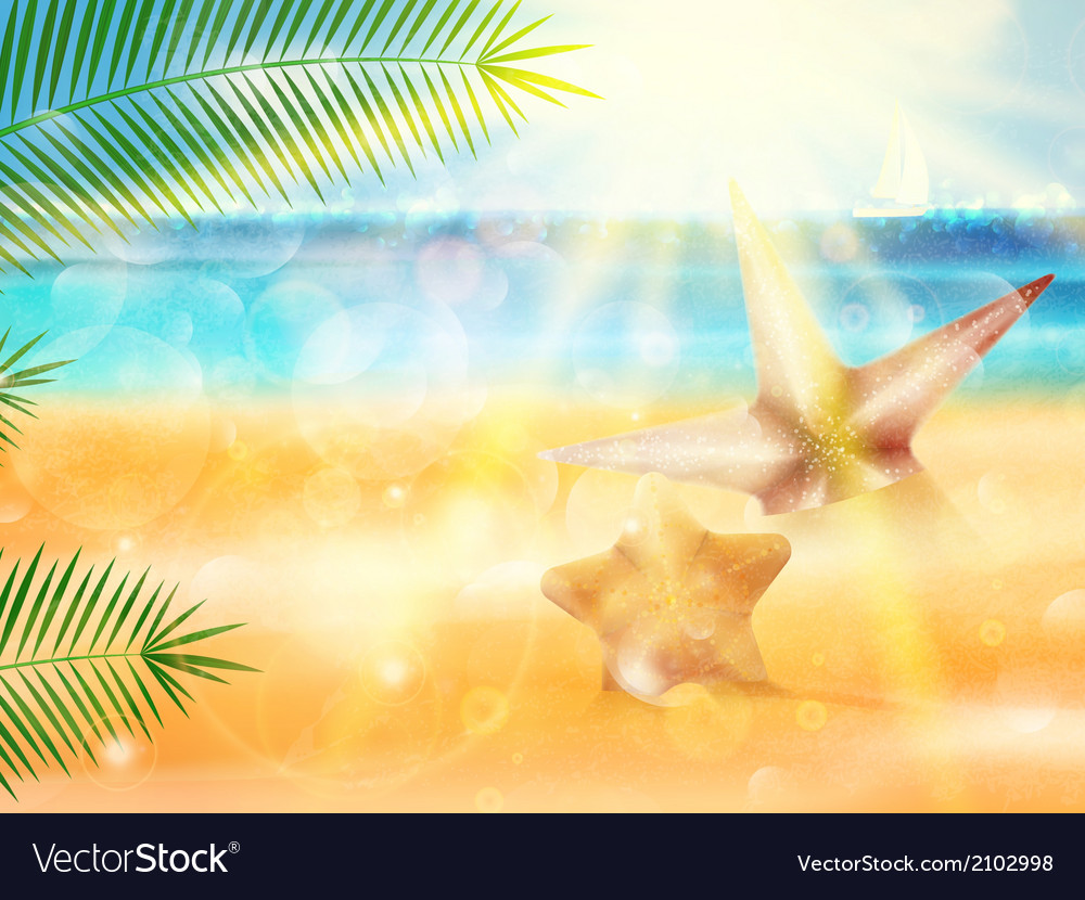 Seaside view poster vector | Price: 1 Credit (USD $1)