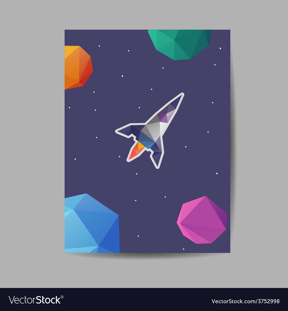 Space rocket brochure design vector | Price: 1 Credit (USD $1)