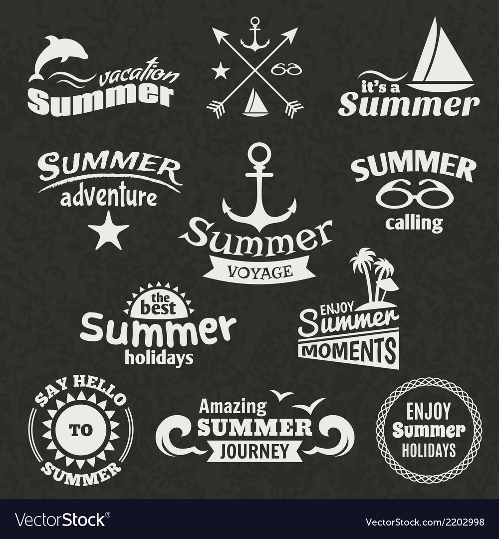 Summer element label vector | Price: 1 Credit (USD $1)