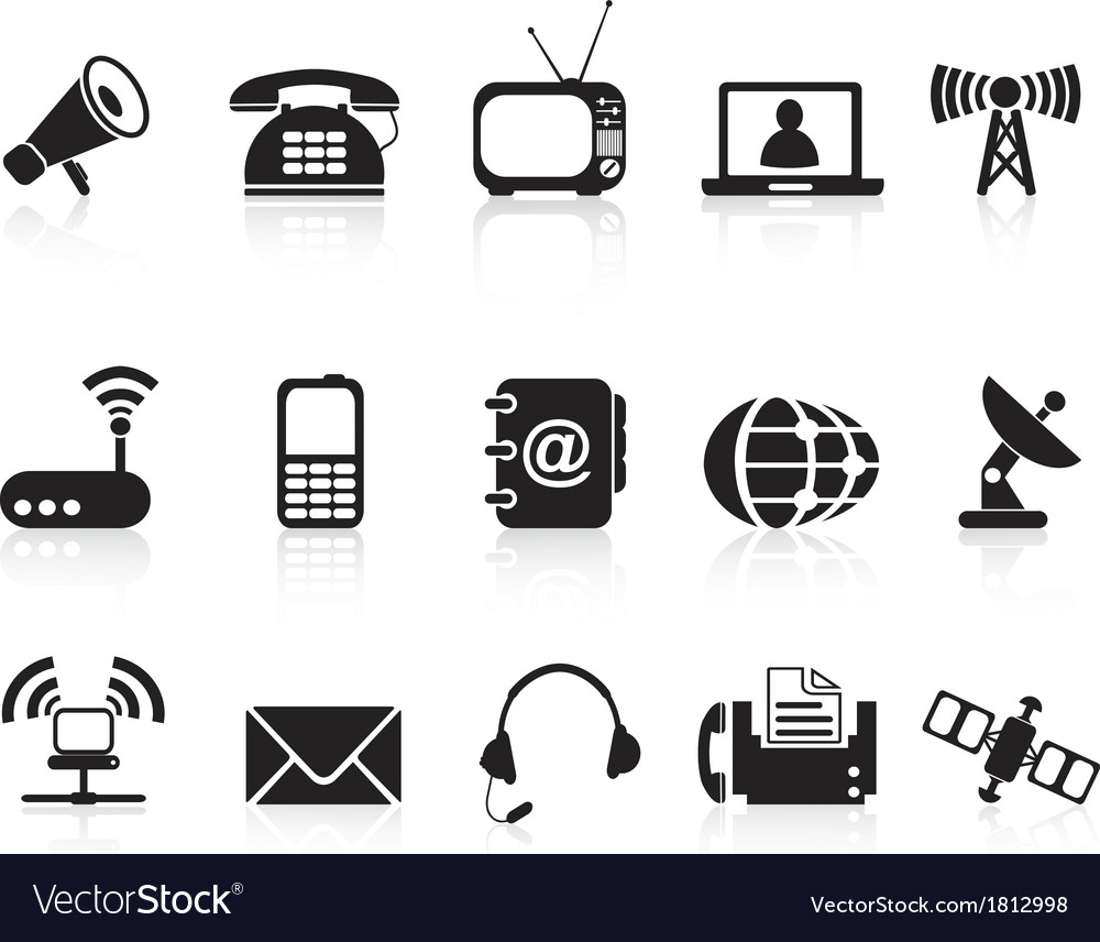 Telecommunication icons vector | Price: 1 Credit (USD $1)