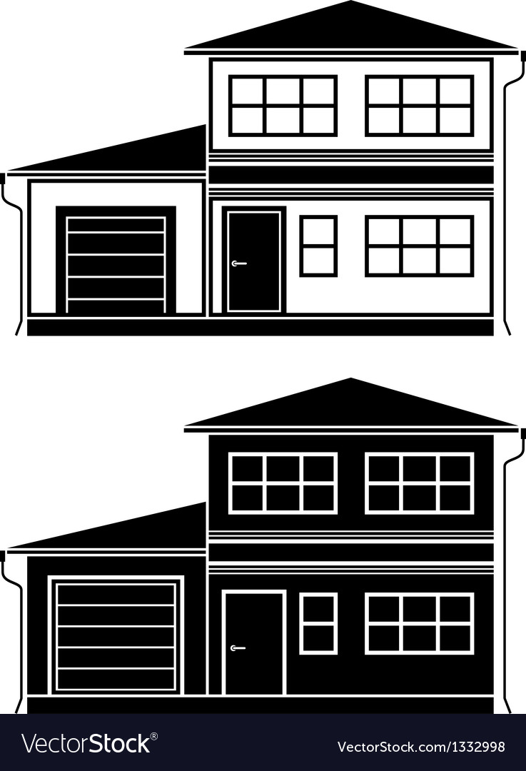 Two icons of cottages vector | Price: 1 Credit (USD $1)