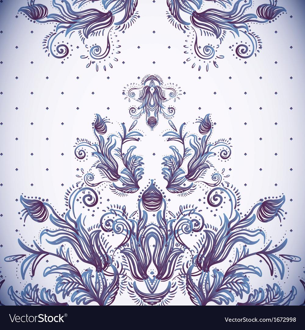 Vintage background baroque pattern vector | Price: 1 Credit (USD $1)