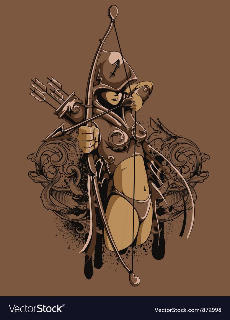 Zodiac tshirt design vector | Price: 3 Credit (USD $3)