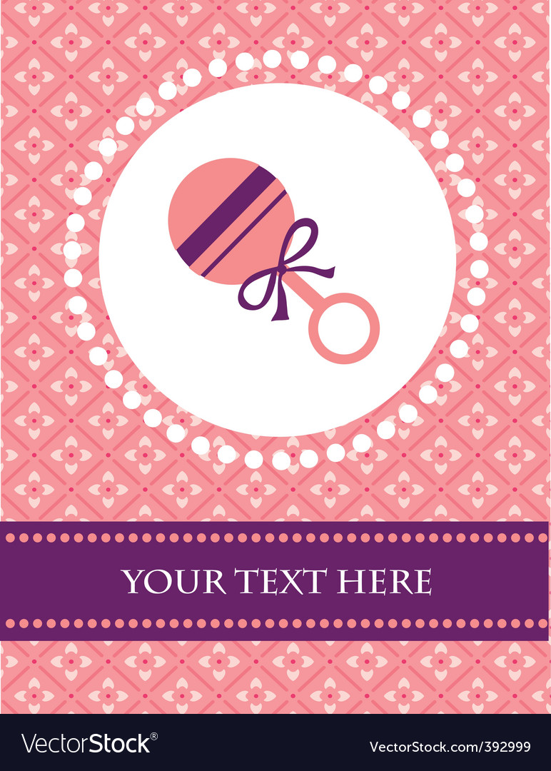 Baby background with rattle vector | Price: 1 Credit (USD $1)