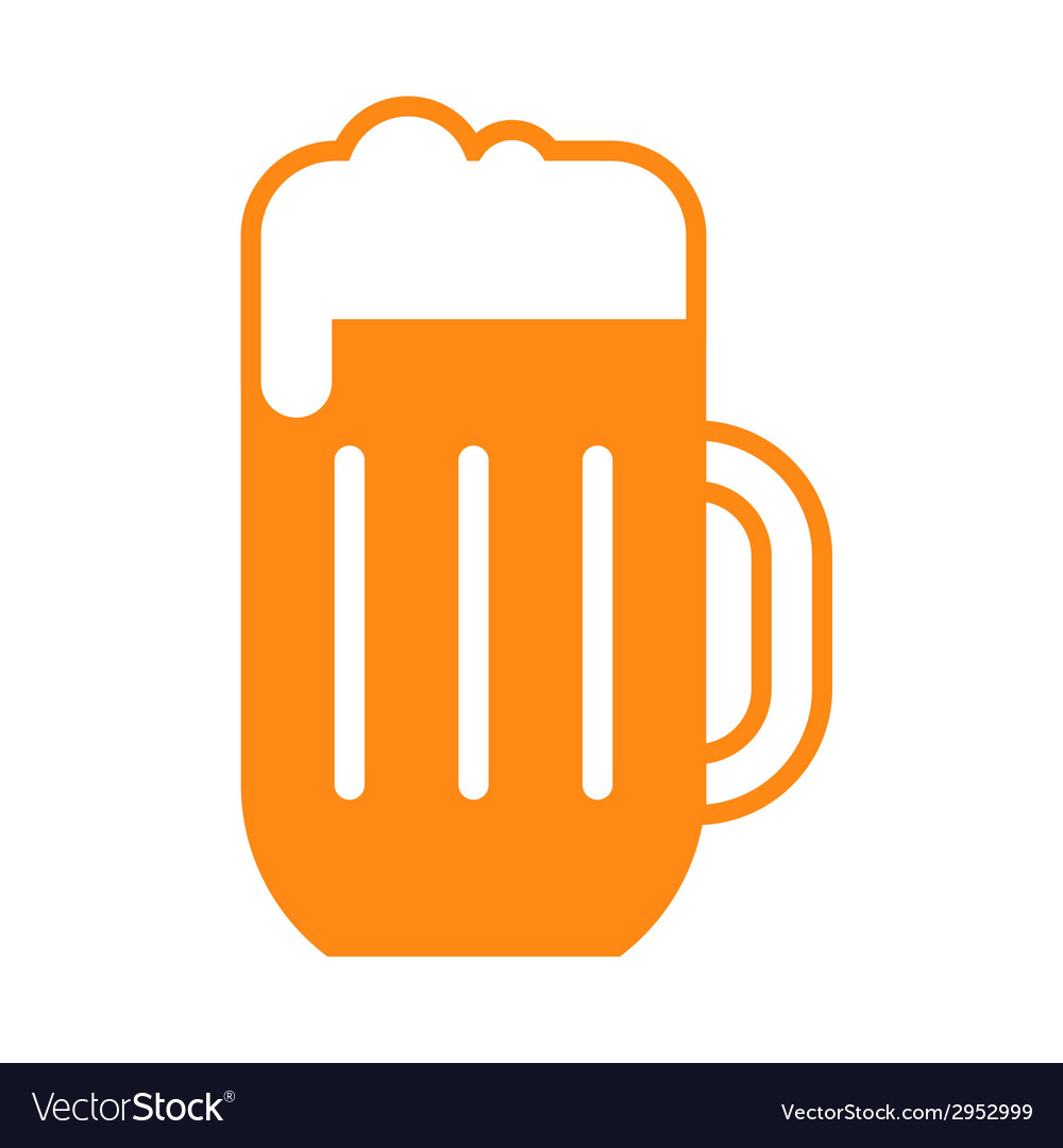Beer glass symbol vector | Price: 1 Credit (USD $1)