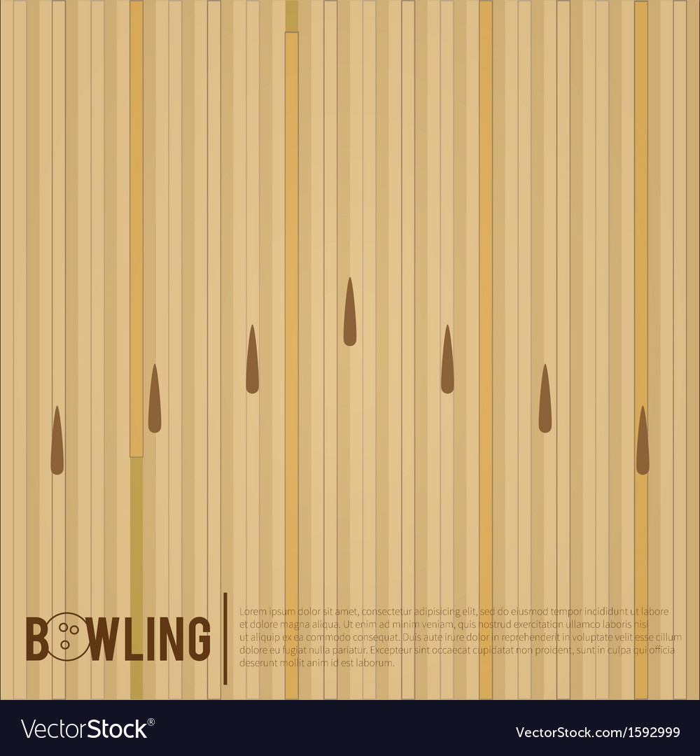 Bowling alley vector | Price: 1 Credit (USD $1)