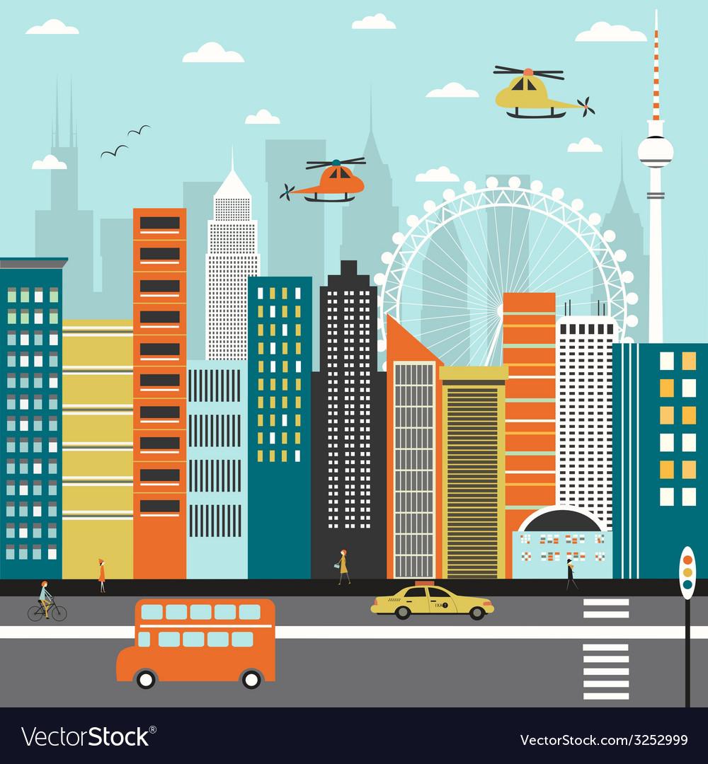 City street vector | Price: 1 Credit (USD $1)
