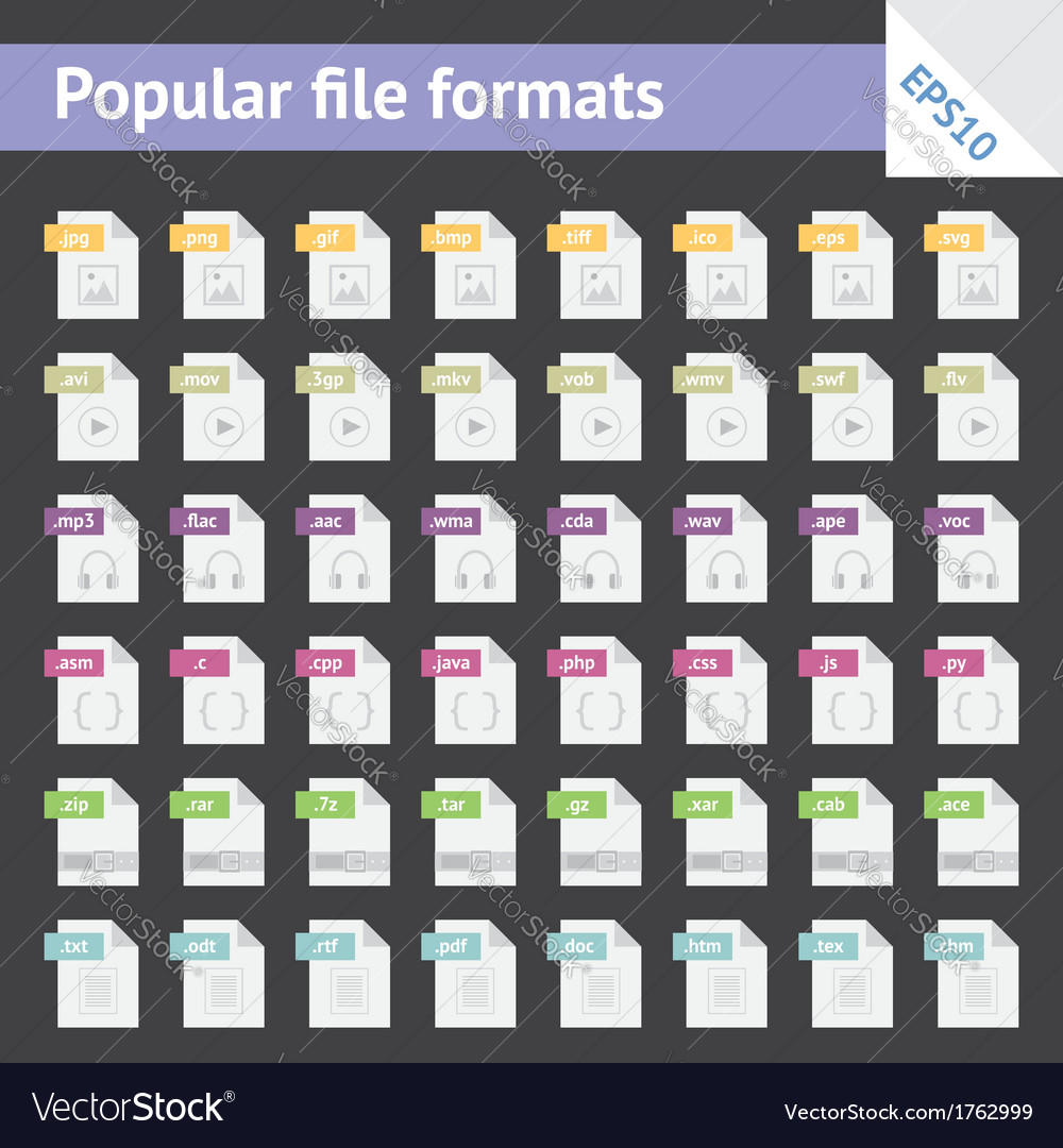 File formats vector | Price: 3 Credit (USD $3)