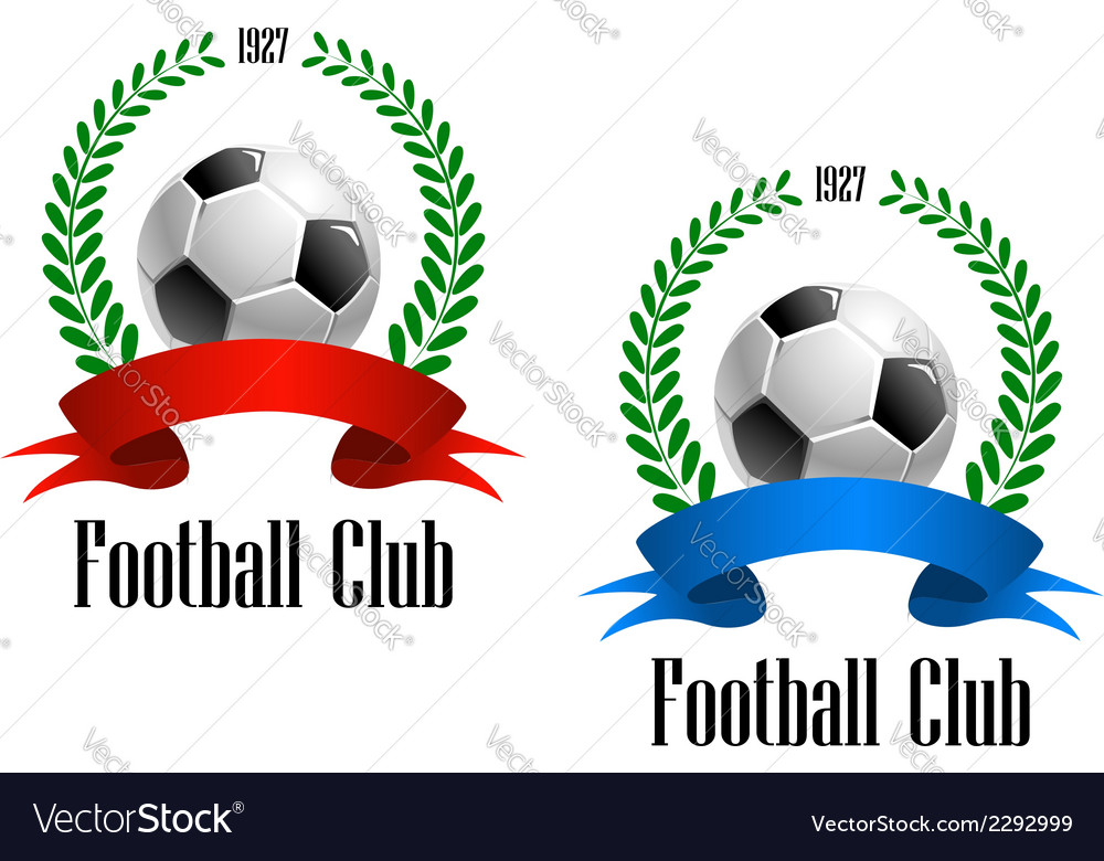 Football ball in laurel wreath vector | Price: 1 Credit (USD $1)