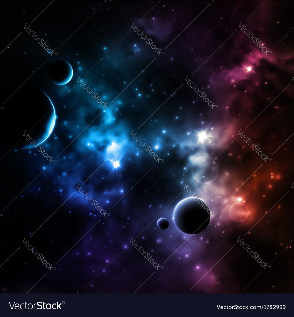 Galaxy background vector | Price: 1 Credit (USD $1)