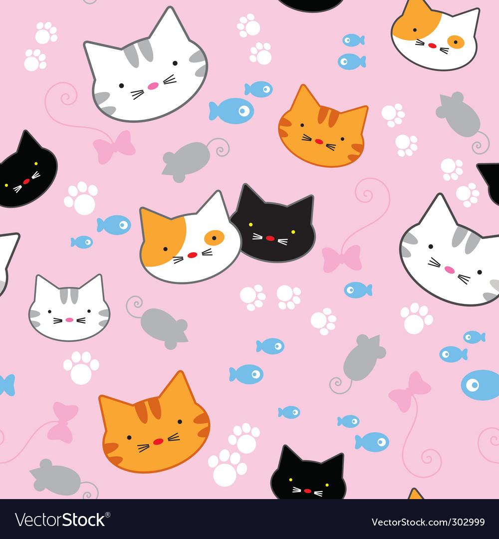 Kitten pattern vector | Price: 1 Credit (USD $1)