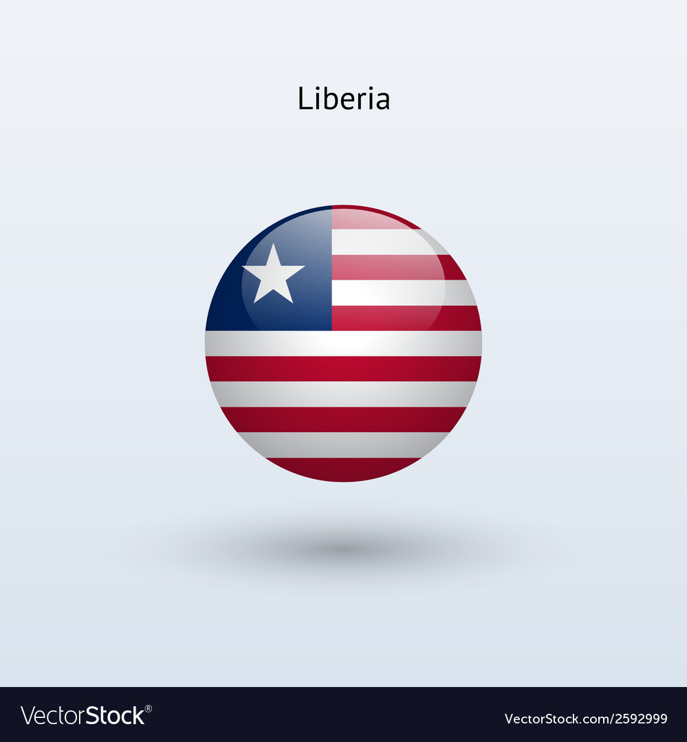Liberia round flag vector | Price: 1 Credit (USD $1)